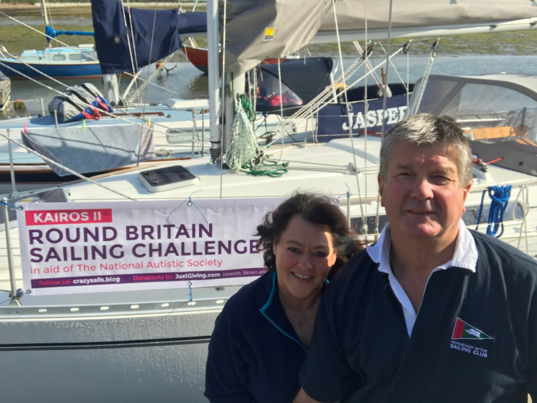 Kairos, Kairos II, Simon Ward, Helen Ward, Moody 336, National Autistic Society, NAS, Run Britain Sailing Challenge, Round Britain, crazysails.blog, JustGiving, Moody 336, MRSC, PTBO, Push the boat out