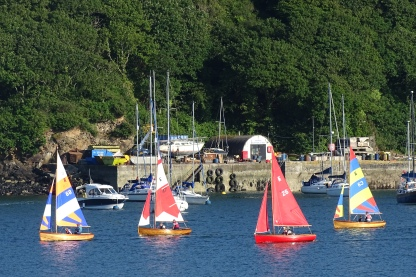 Dinghy sailing off the Gallants Sailing Club